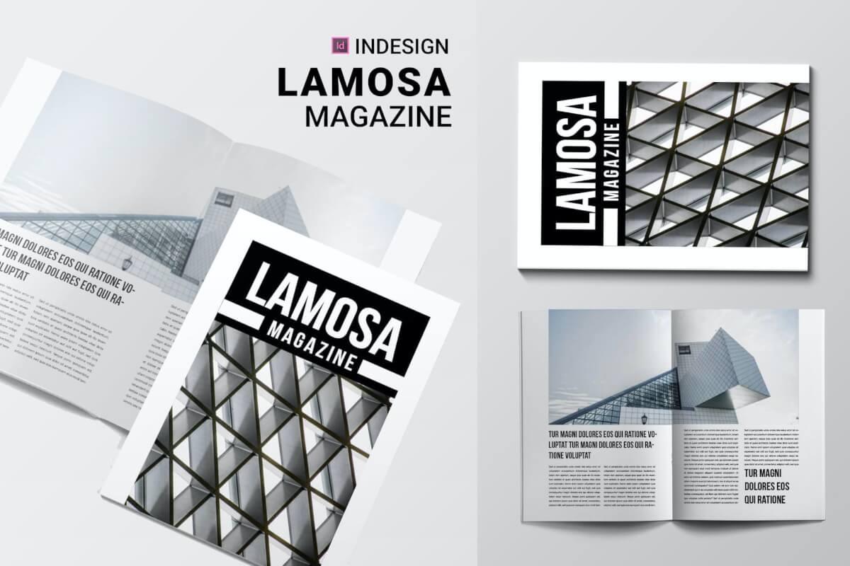 拉莫萨| 杂志排版版式设计模板下载