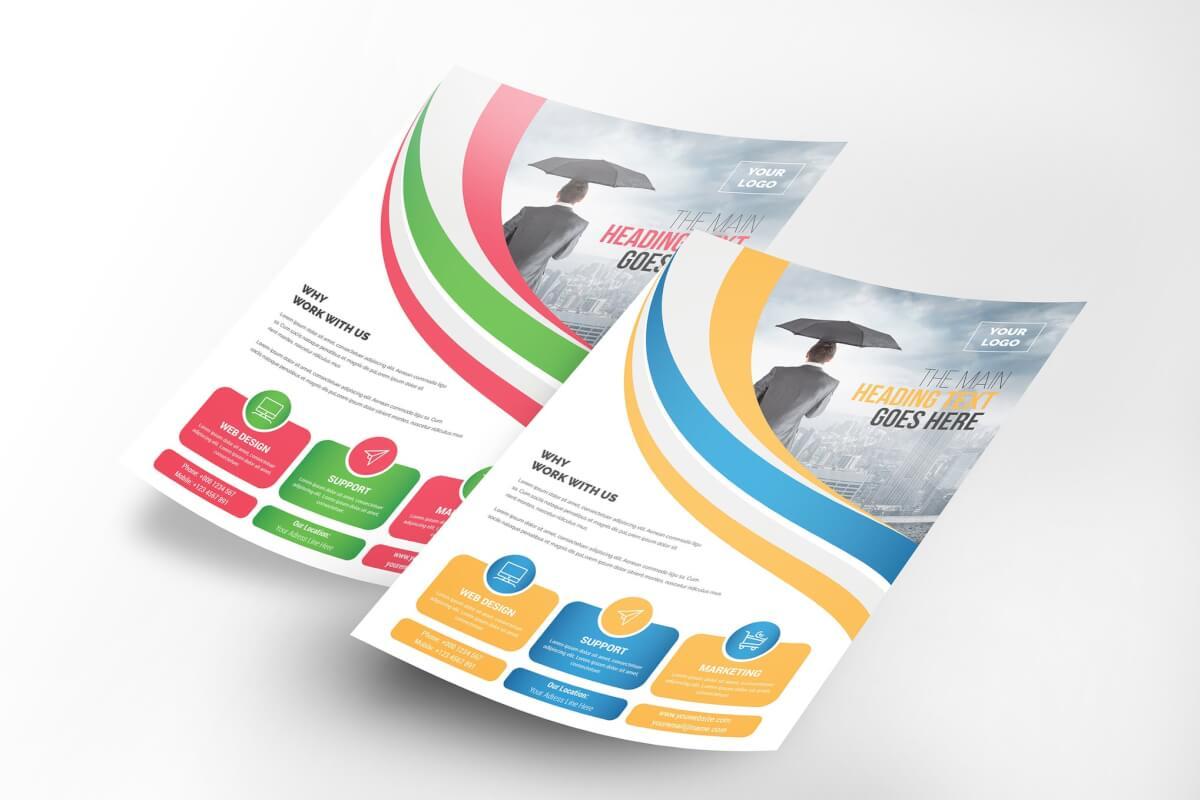 公司传单海报排版设计模板素材