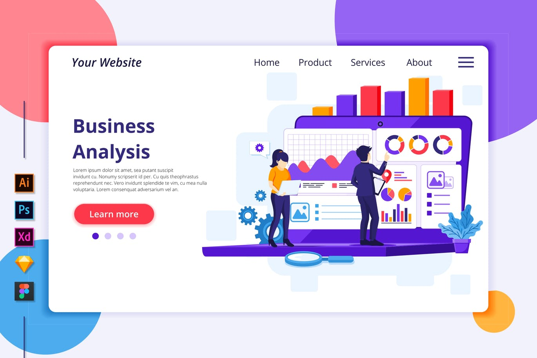 Agnytemp-业务分析图v1网站banner插图模板下载