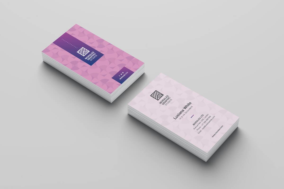 粉色名片设计模板素材下载