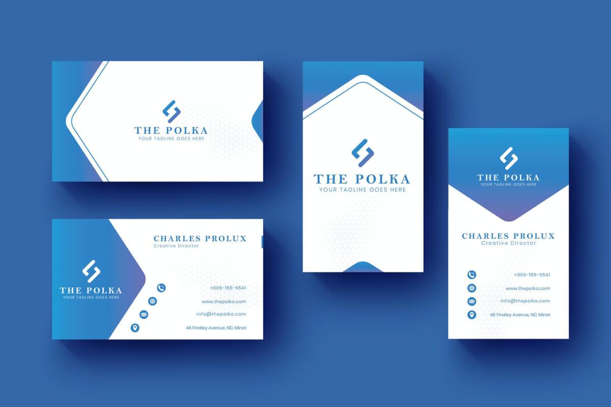 卡名水平和垂直蓝色商务名片