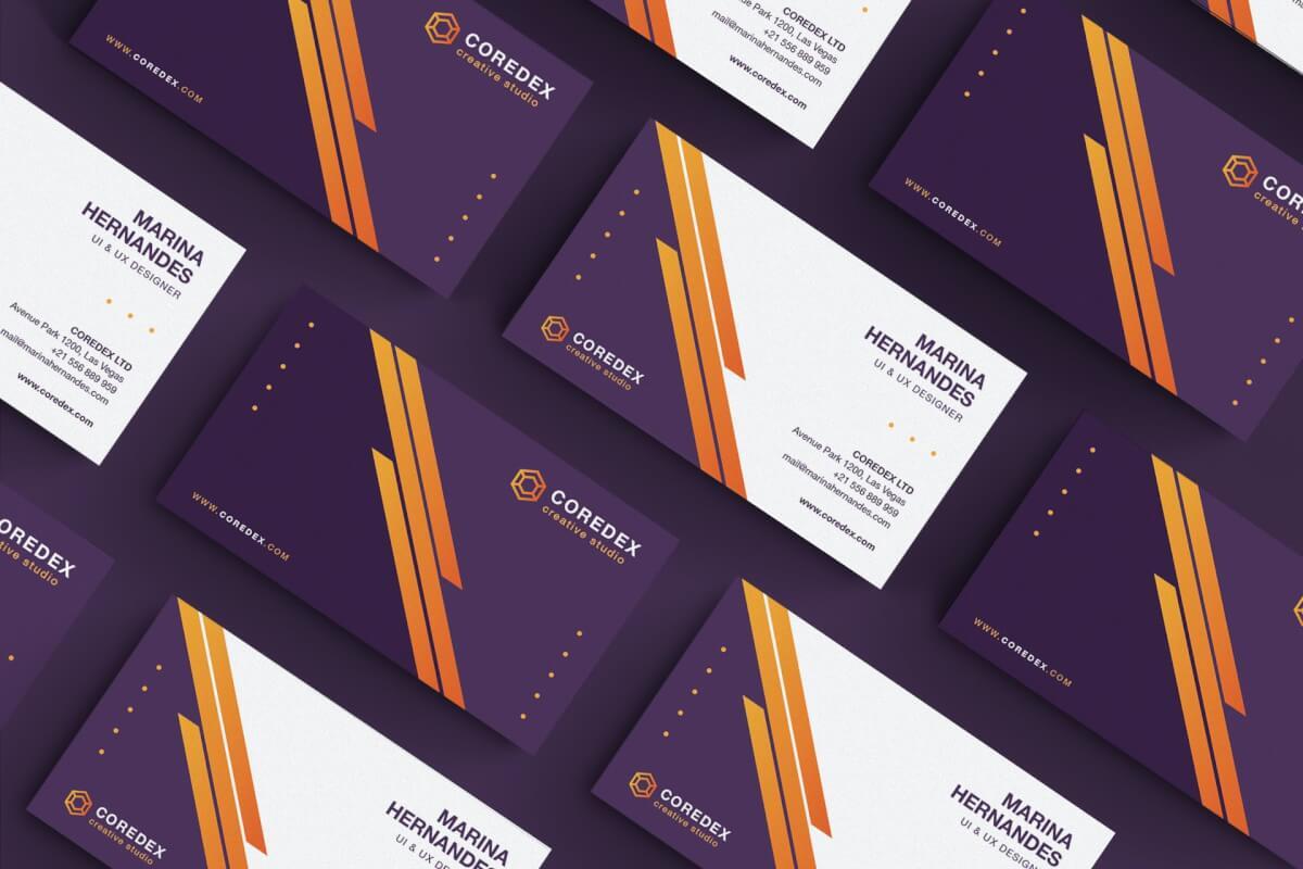 紫色商务名片模板素材下载