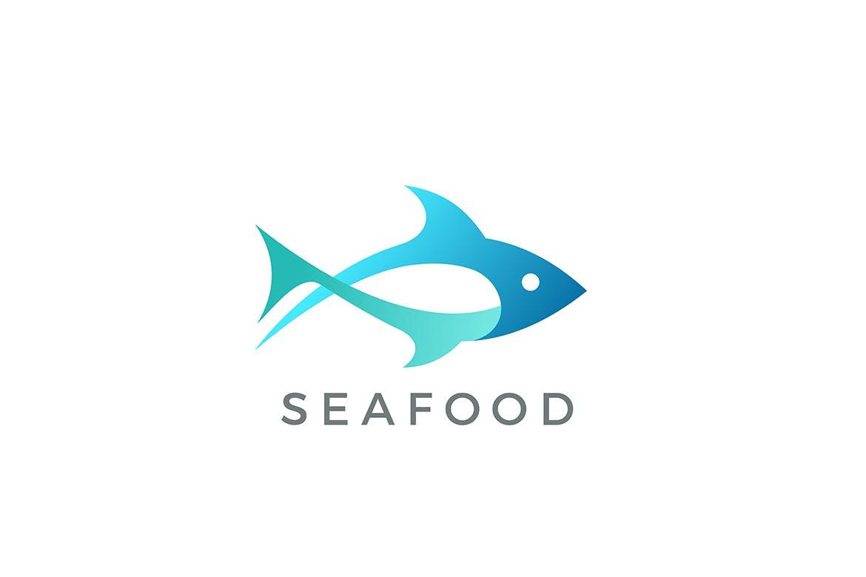 吞拿鱼海鲜徽标logo