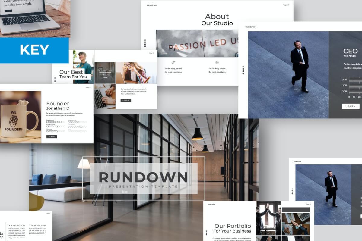Rundows主题演讲简约Keynote模板下载