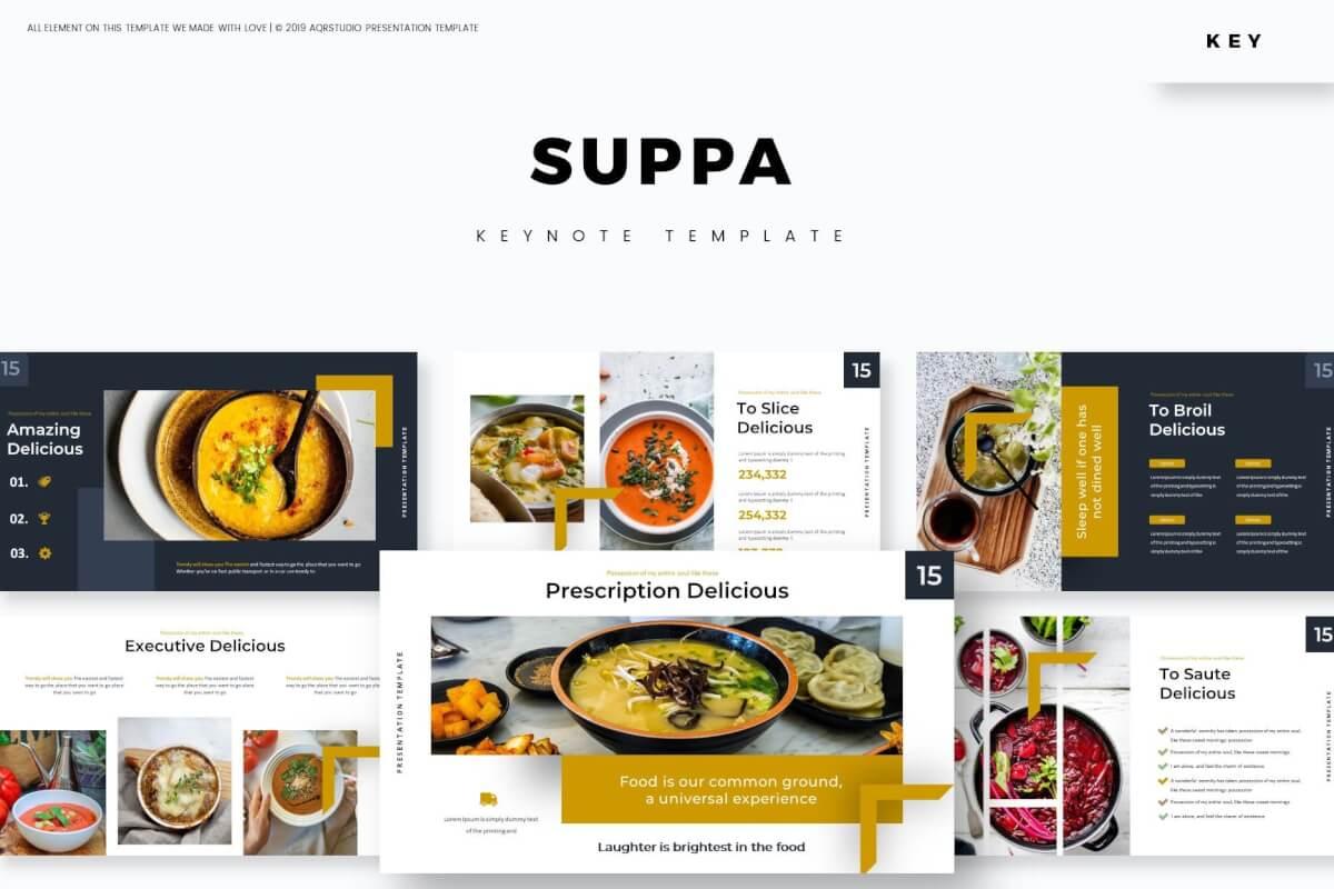Suppa-主题演讲模板美食Keynote模板下载