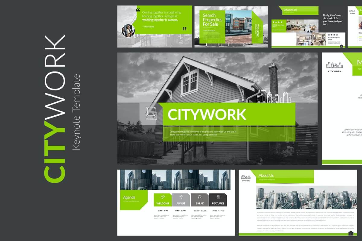 CITYWORK主题演讲模板房地产Keynote模板下载