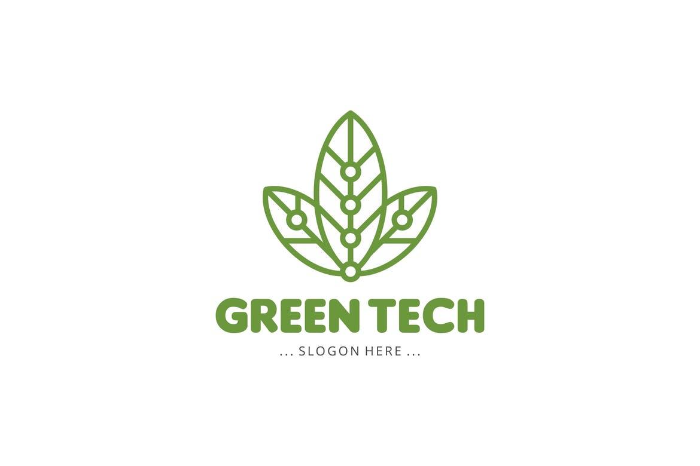 绿色科技徽标logo下载