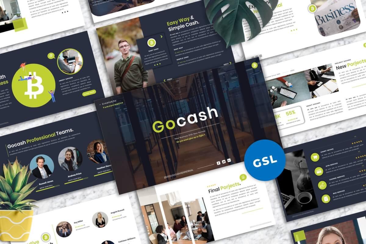 Gocash-财务Googleslide模板