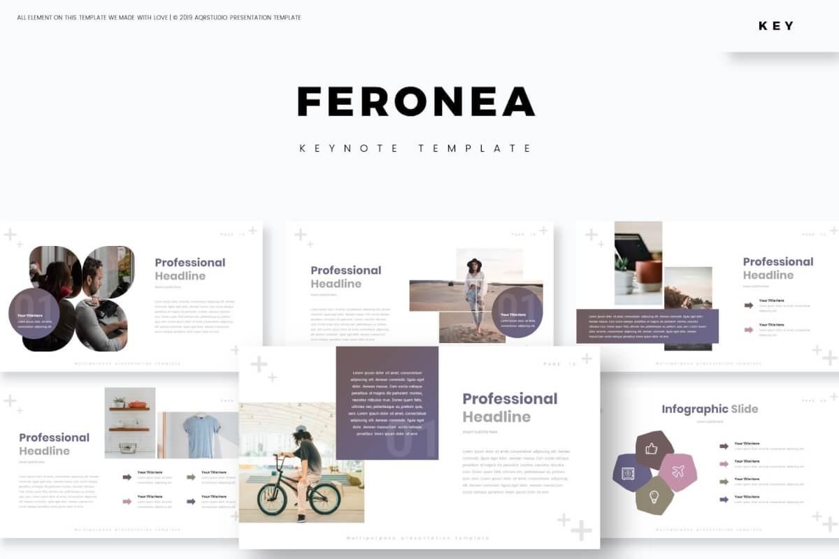 Feronea-主题演讲模板Keynote模板下载
