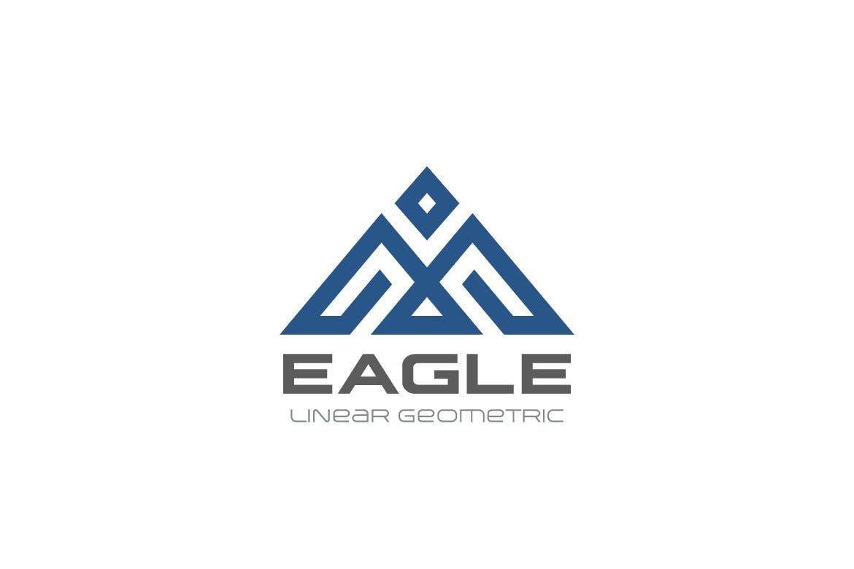 徽标鹰几何鸟抽象线性风格logo