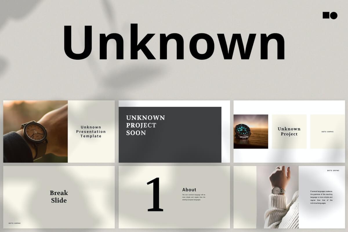 未知-主题演讲简约大气Keynote模板下载