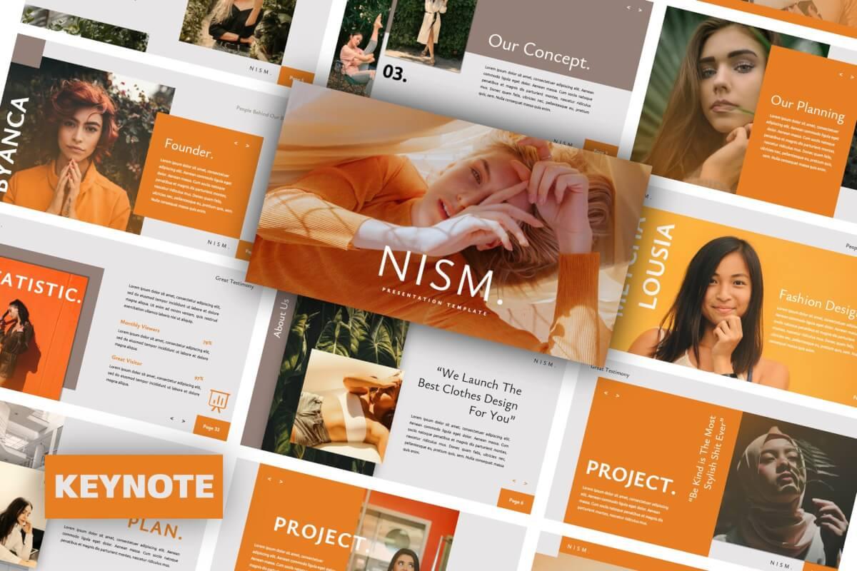 Nism。品牌表主题演讲Keynote模板下载