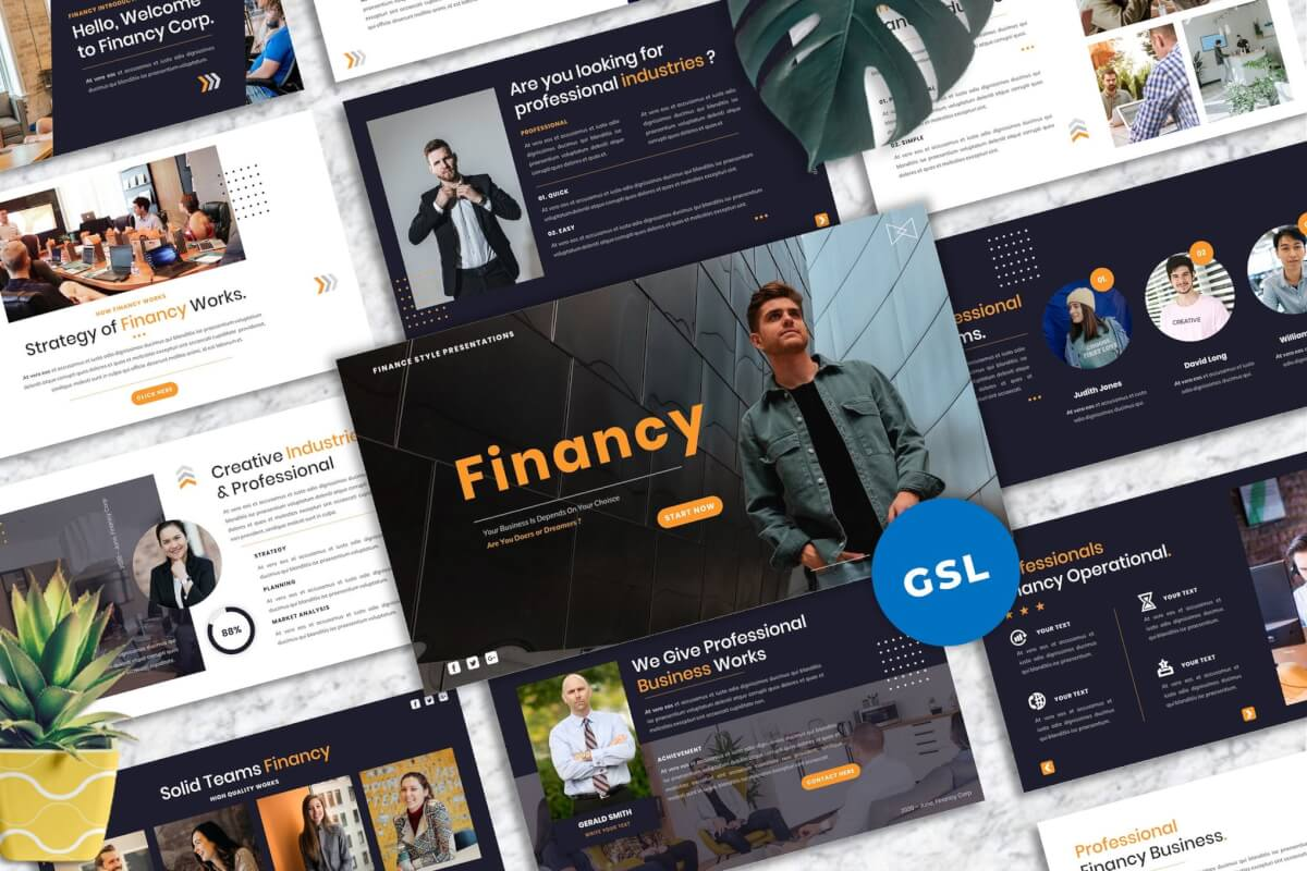 Financy-创意Googleslide模板
