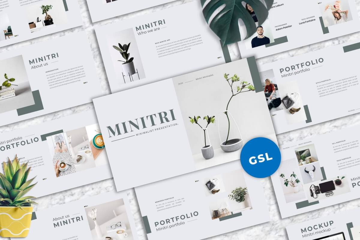 Minitri-创新的Googleslide模板