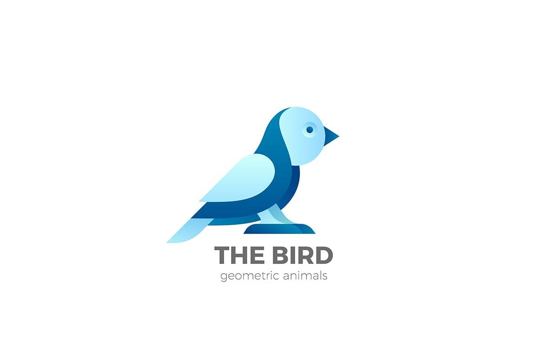 鸟徽标抽象设计LOGO