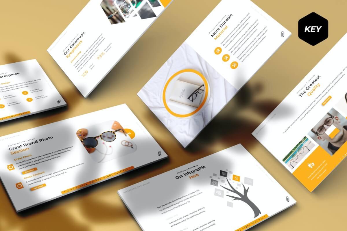 眼镜-主题演讲模板Keynote模板下载