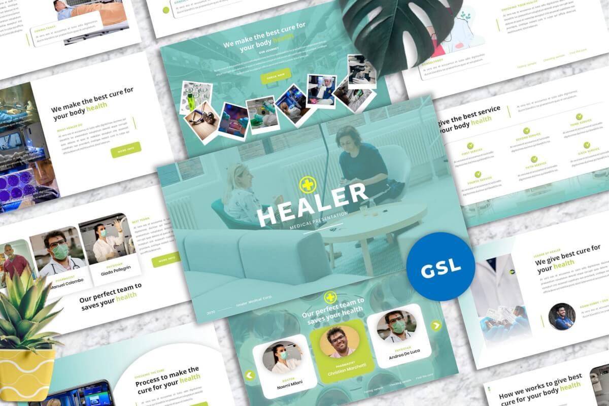 修复者-Medicine Googleslide Template