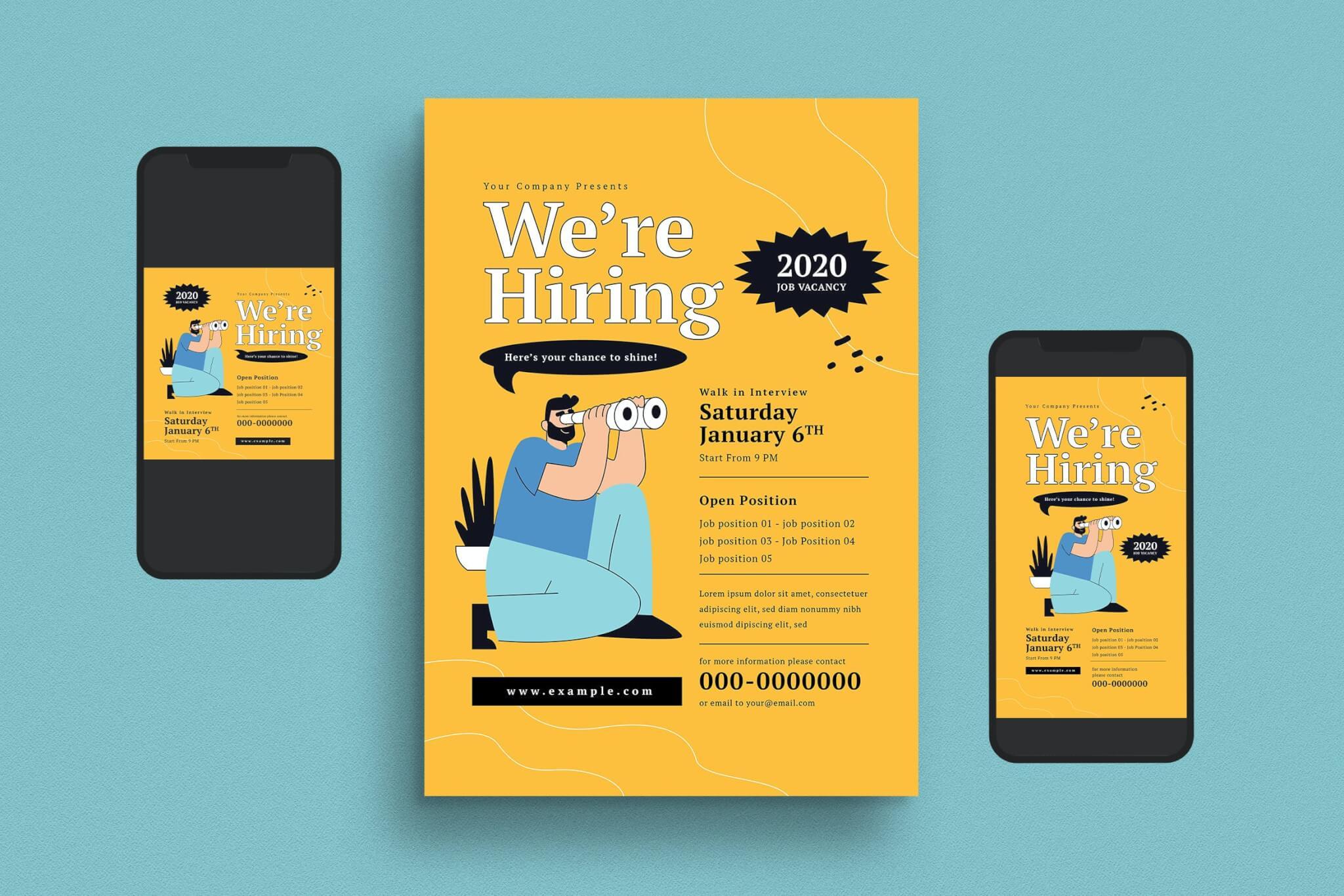 创意招聘传单海报设计模板