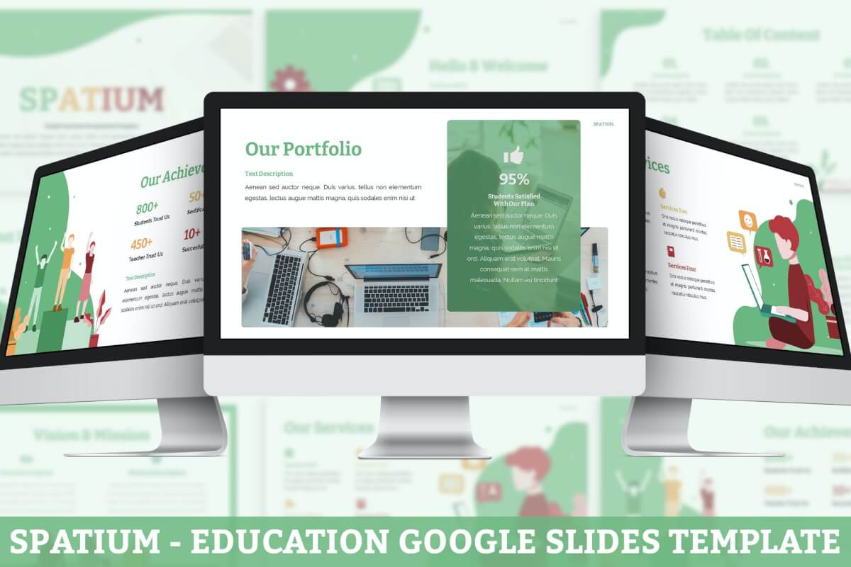 Spatium-教育Google幻灯片模板