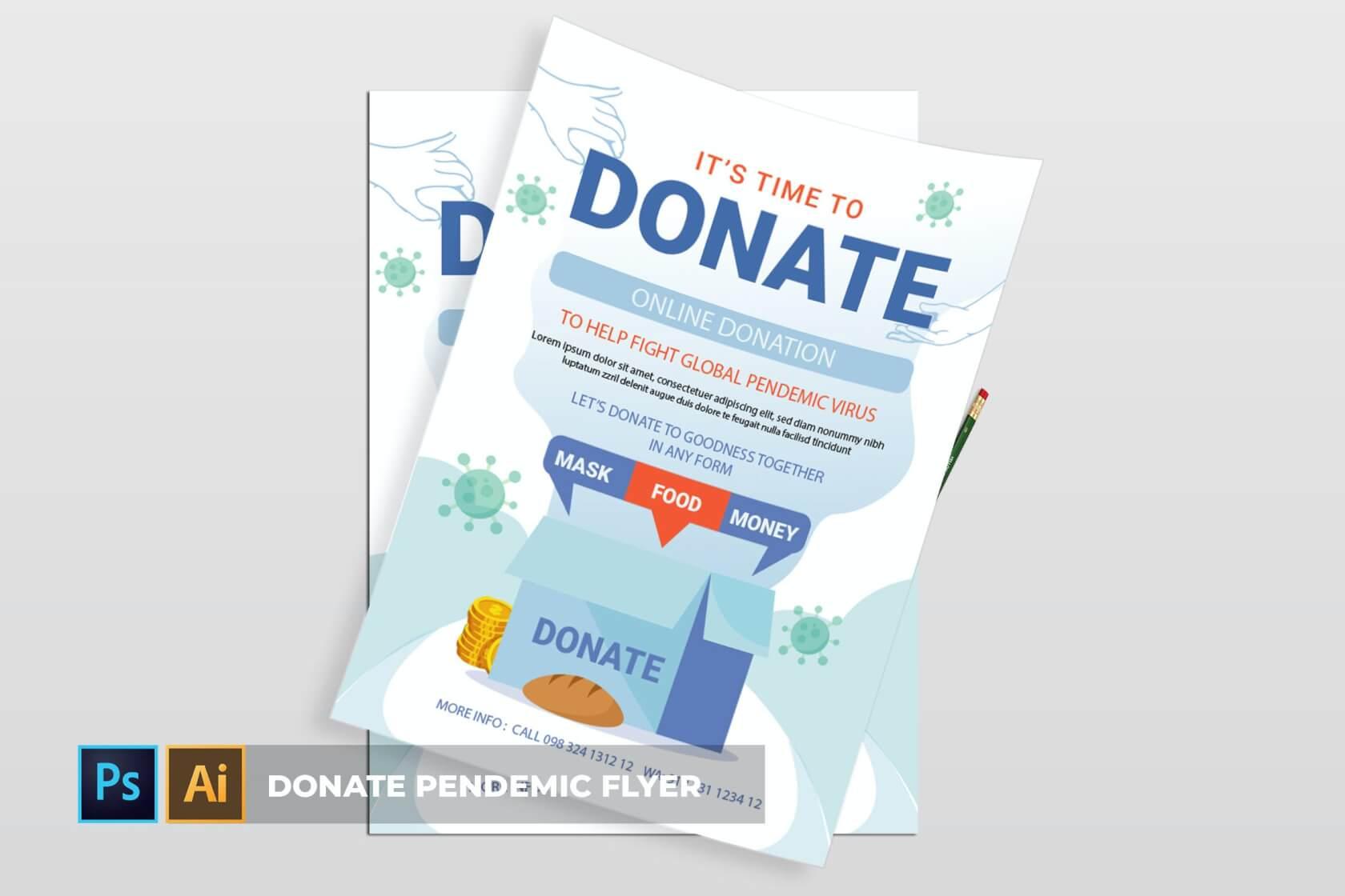 疫情捐赠| 传单海报设计模板