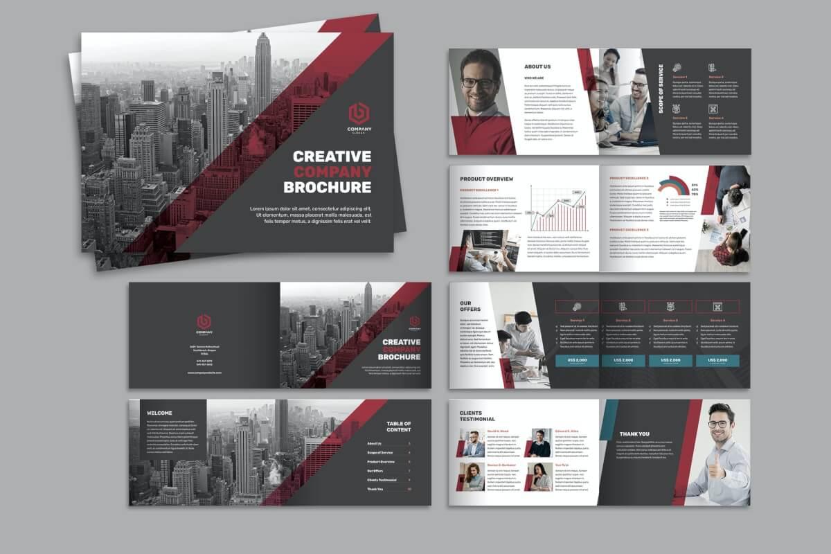 公司简介商业宣传画册模板