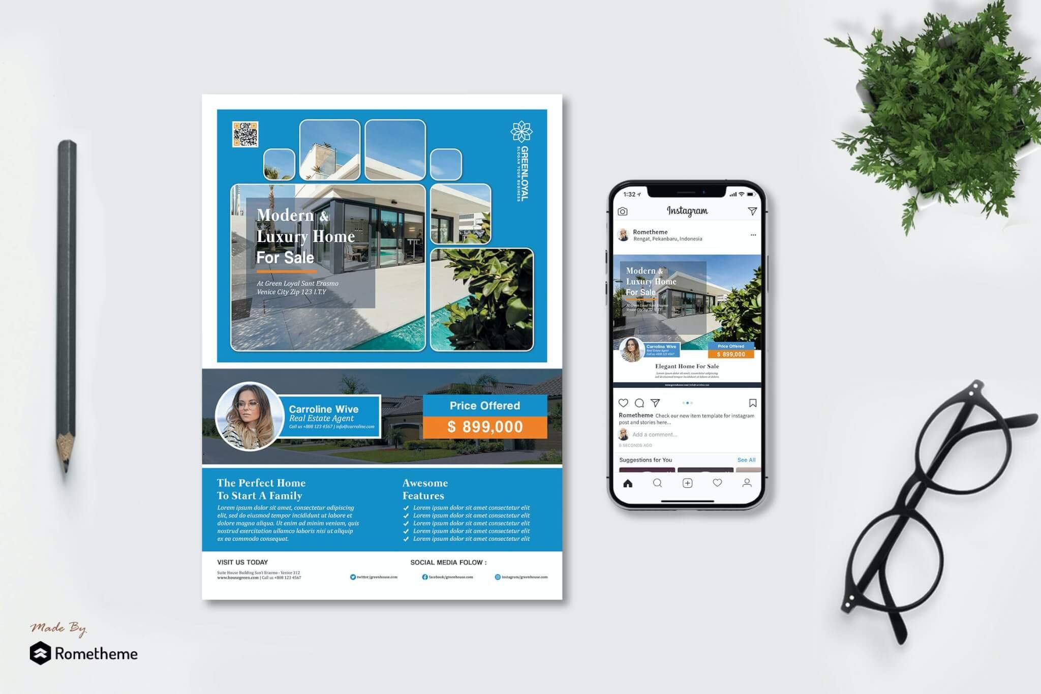 GreenLoyal-房地产海报传单设计模板