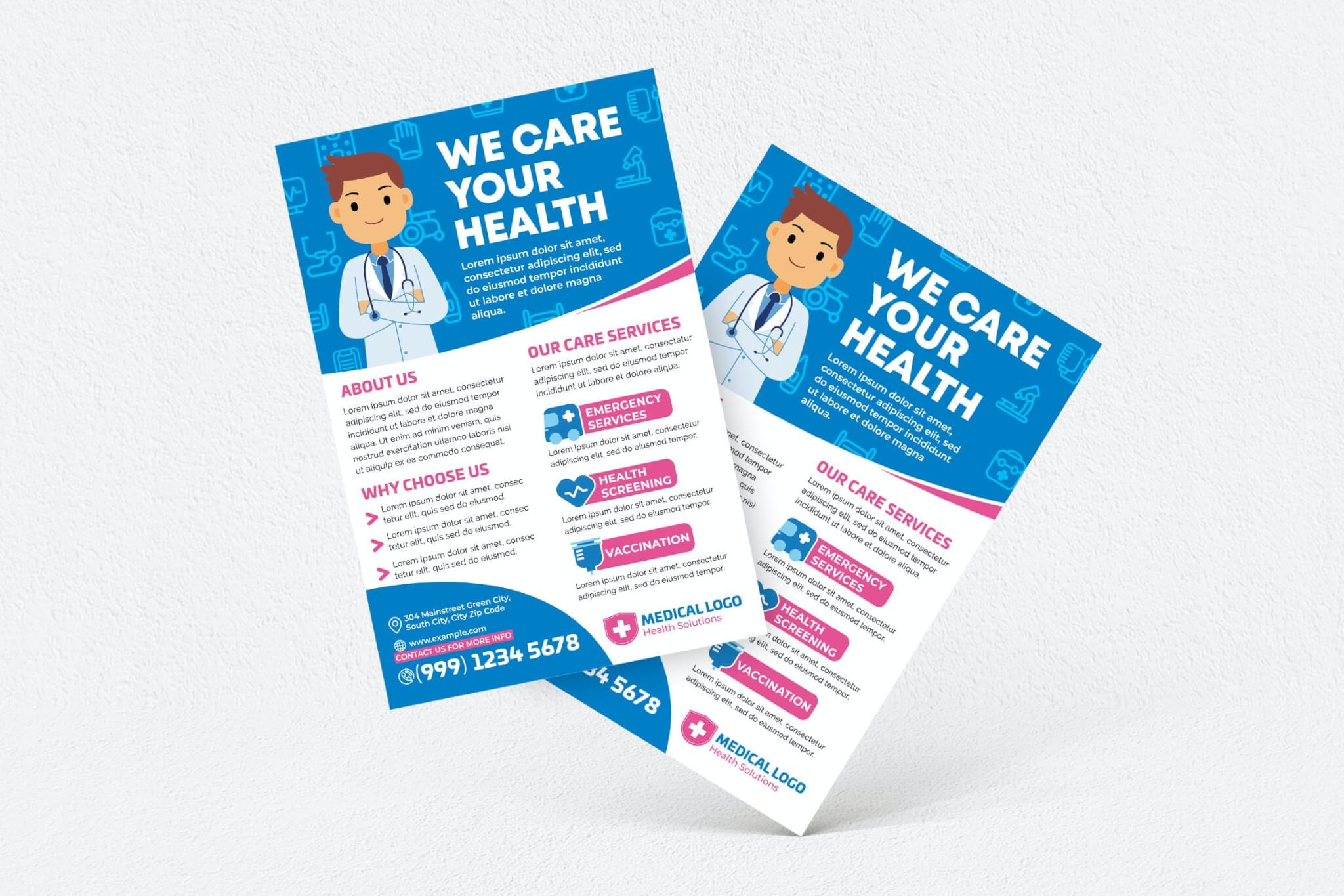 我们关心您的健康海报传单