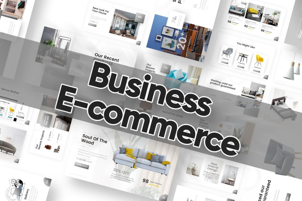 商业电子商务PowerPoint模板
