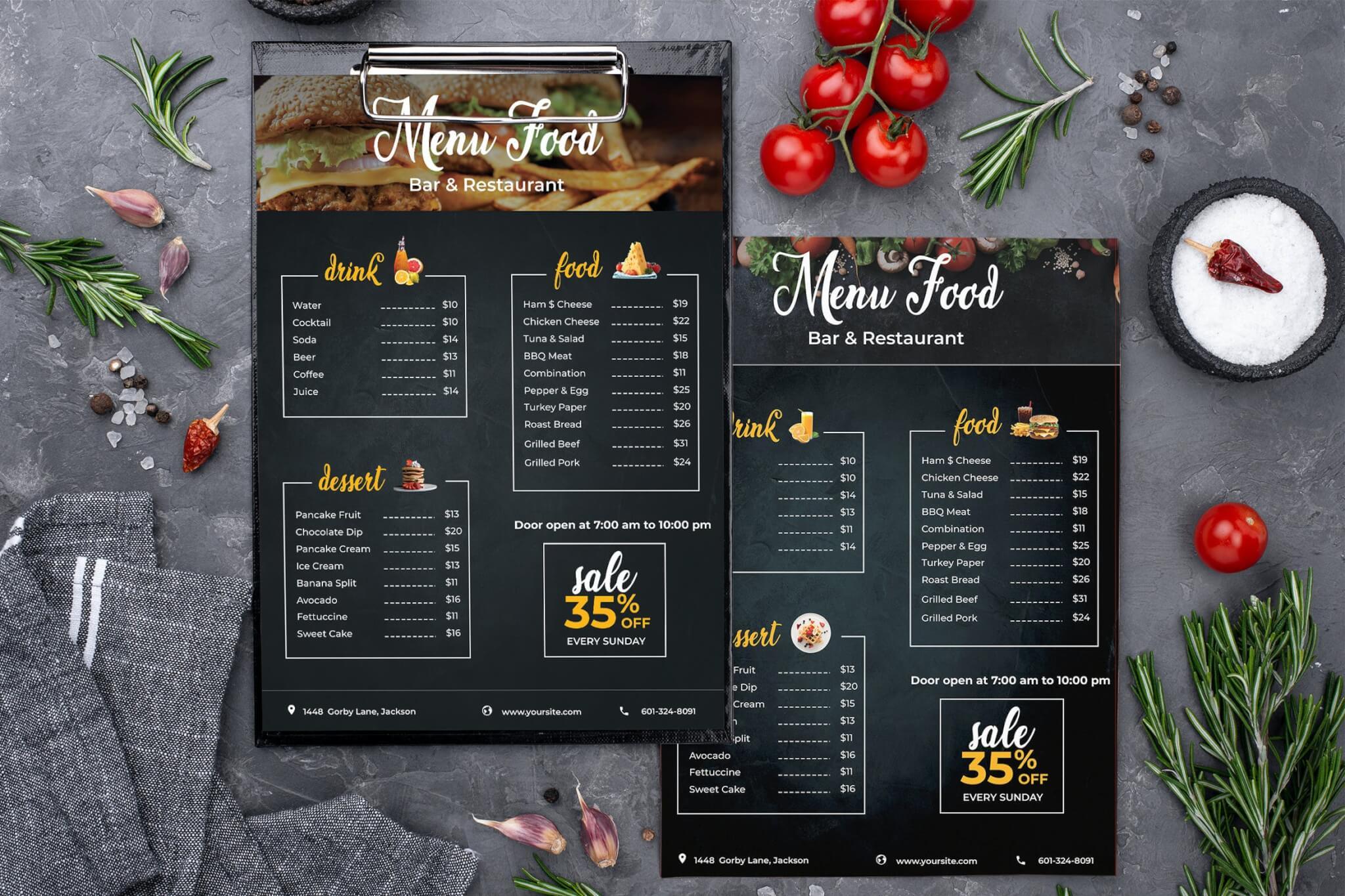 餐厅/快餐-菜单模板
