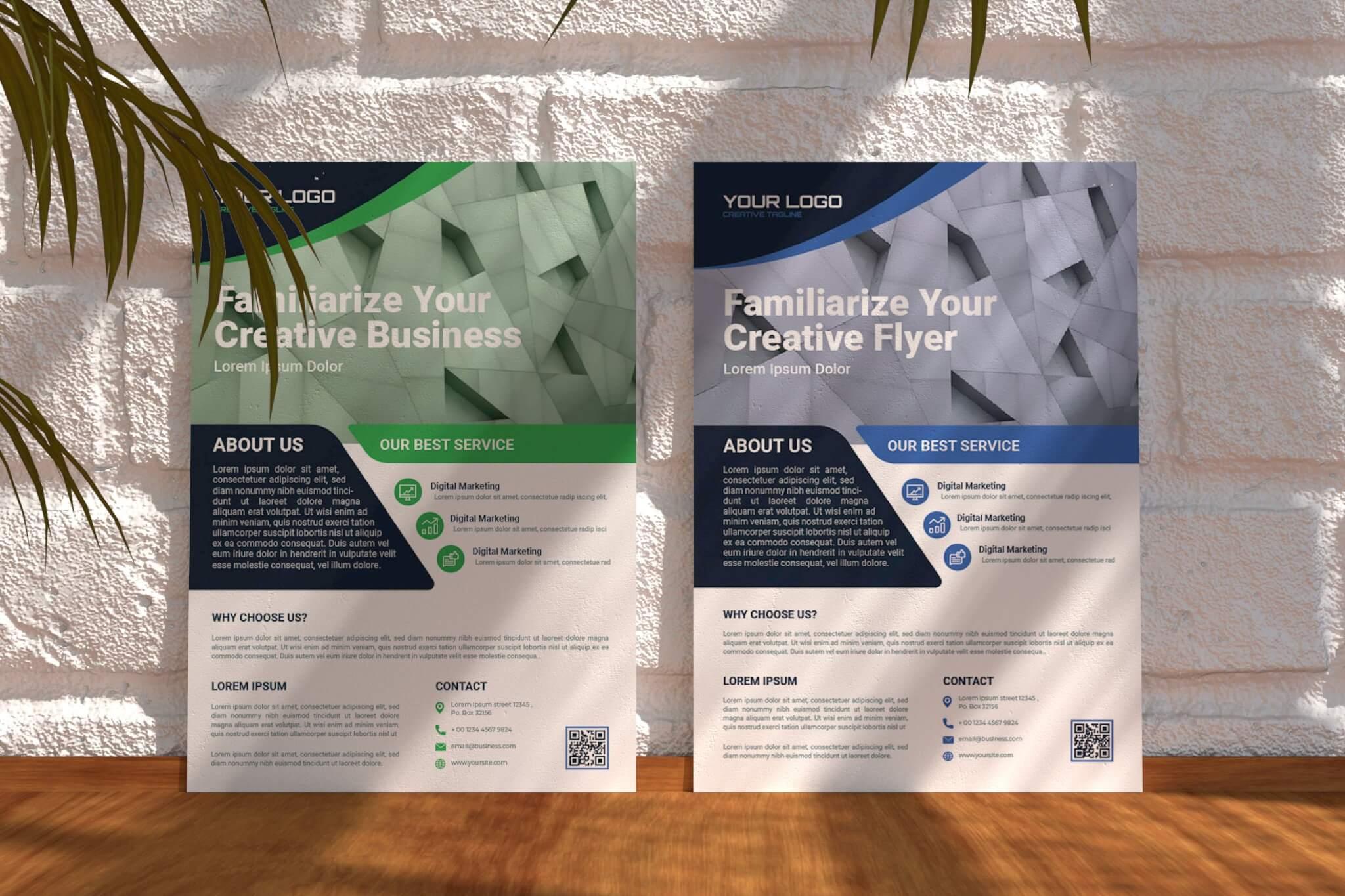 Sanstemp-公司海报传单设计模板