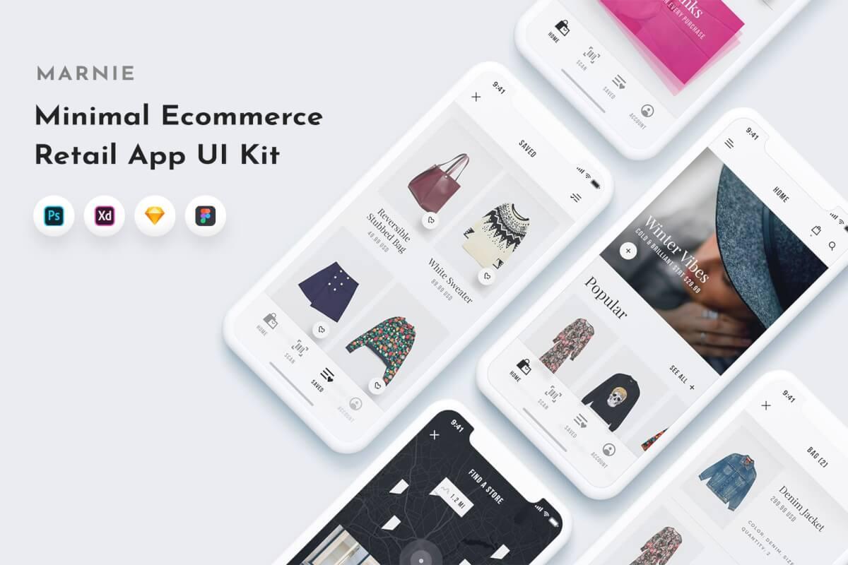 Marnie UI套件服装商城app设计模板