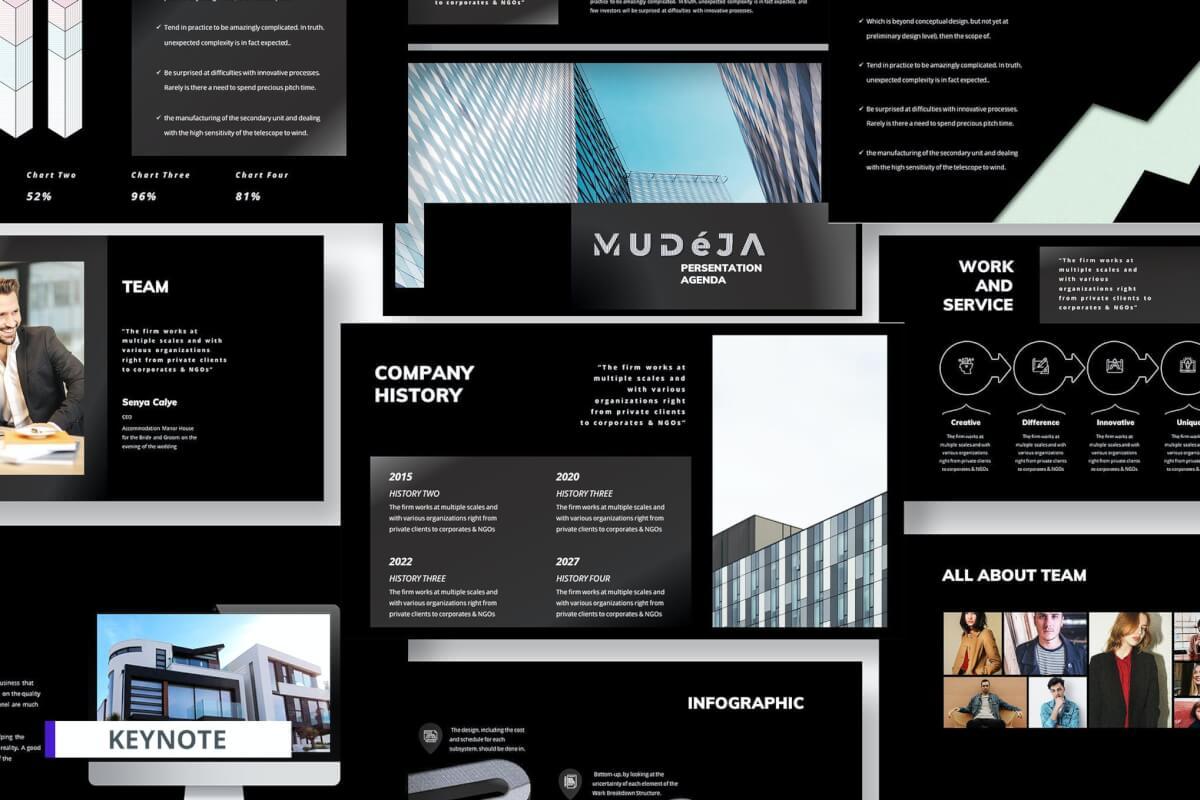 企业商业项目计划书项目合作业务展示黑色keynote模板