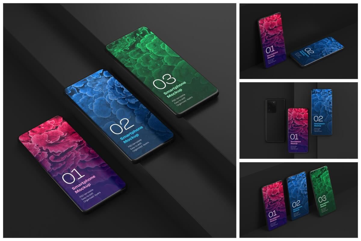 Galaxy S20超样机套装  Android屏幕样机