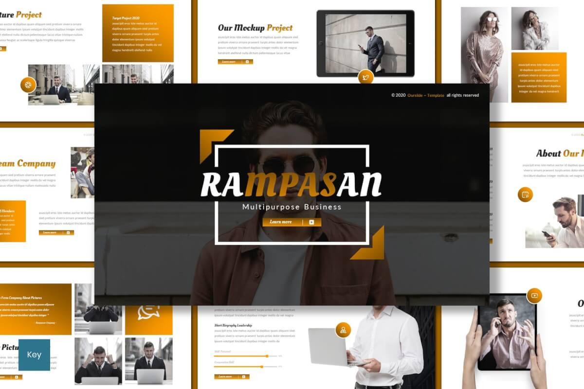 Rampasan-多功能主题演讲keynote模板