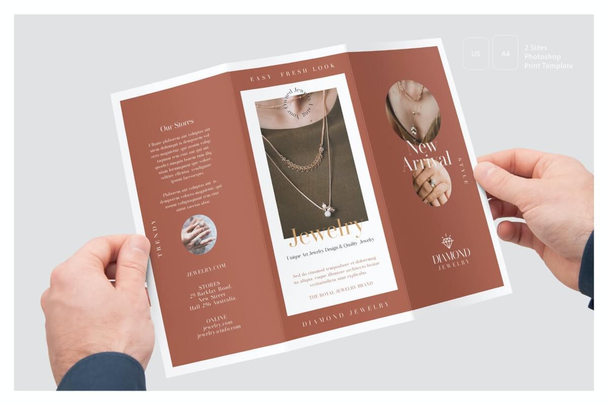 珠宝店三折页模板