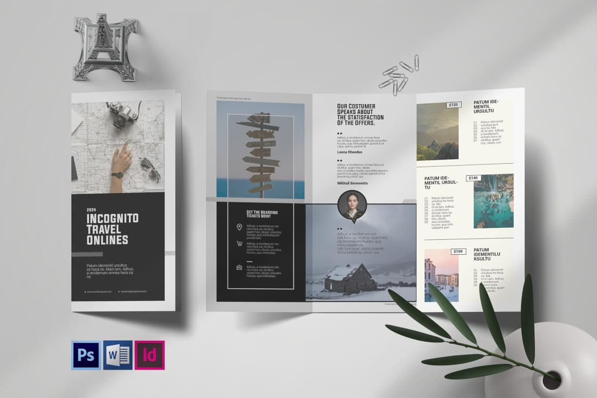 企业介绍宣传三折页设计模板