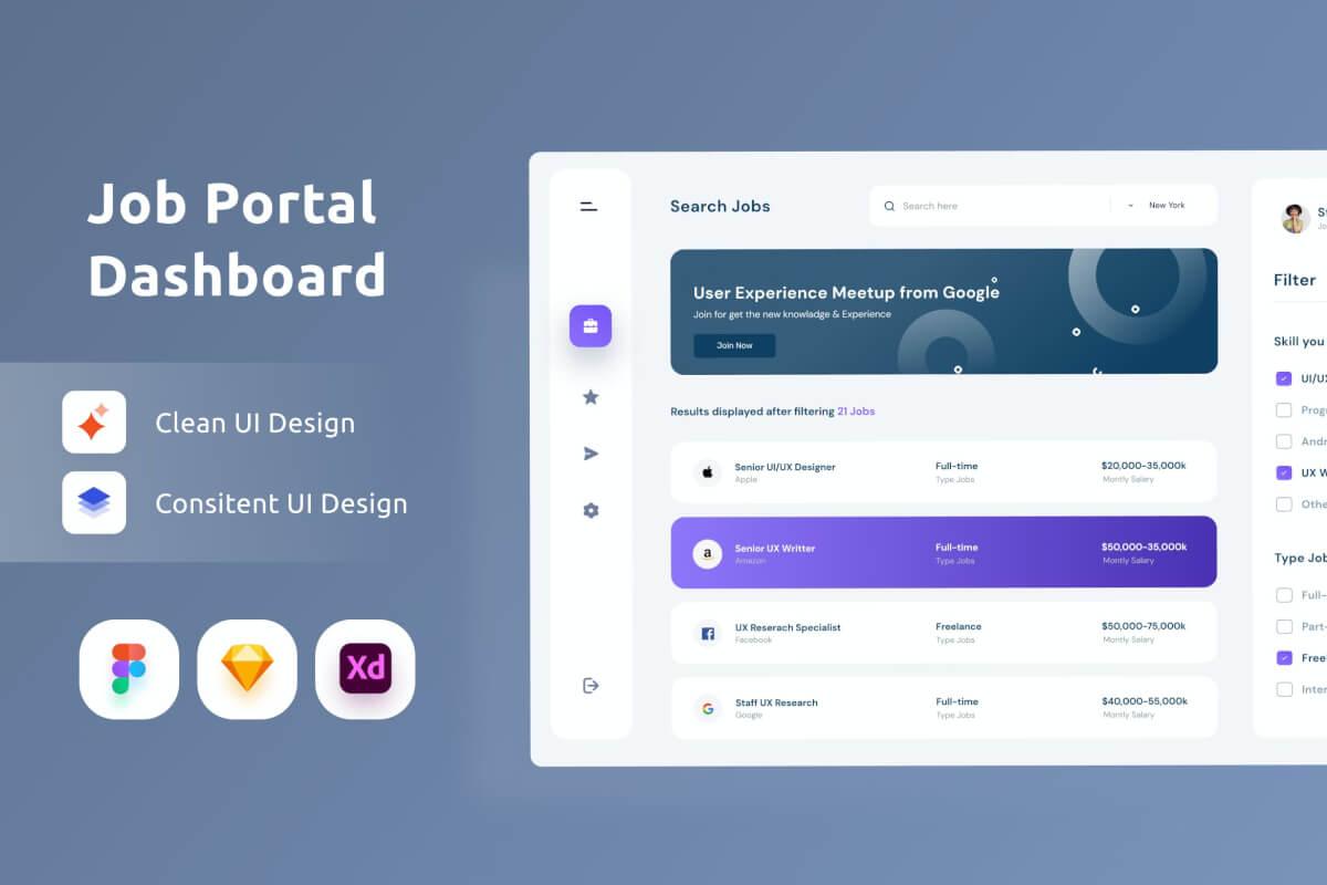 作业项目后台管理dashboard UI界面设计模板