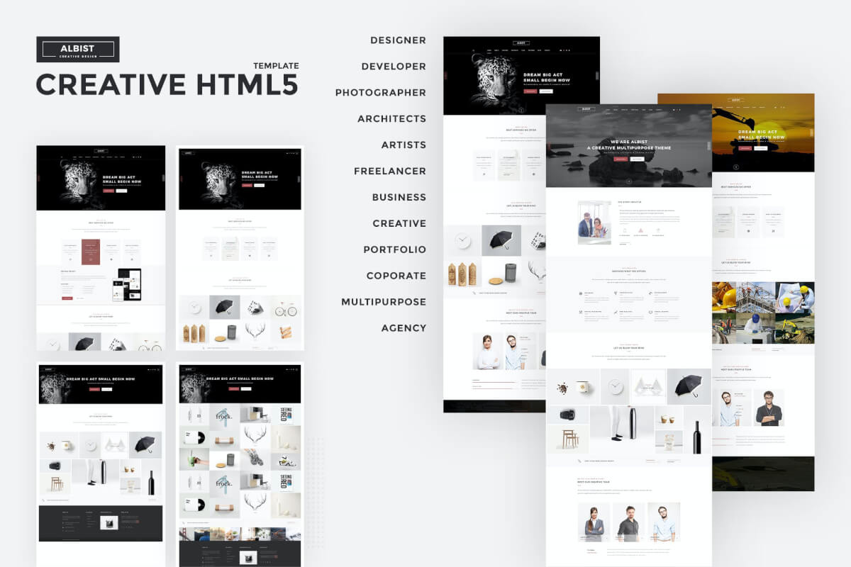ALBIST-创意多用途网站源码HTML5模板