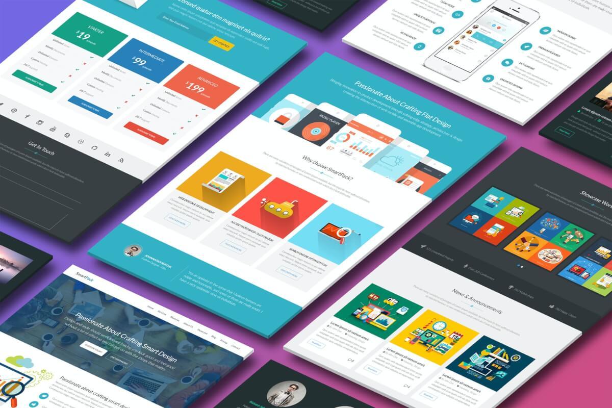 SmartPack-具有页面构建器的HTML模板