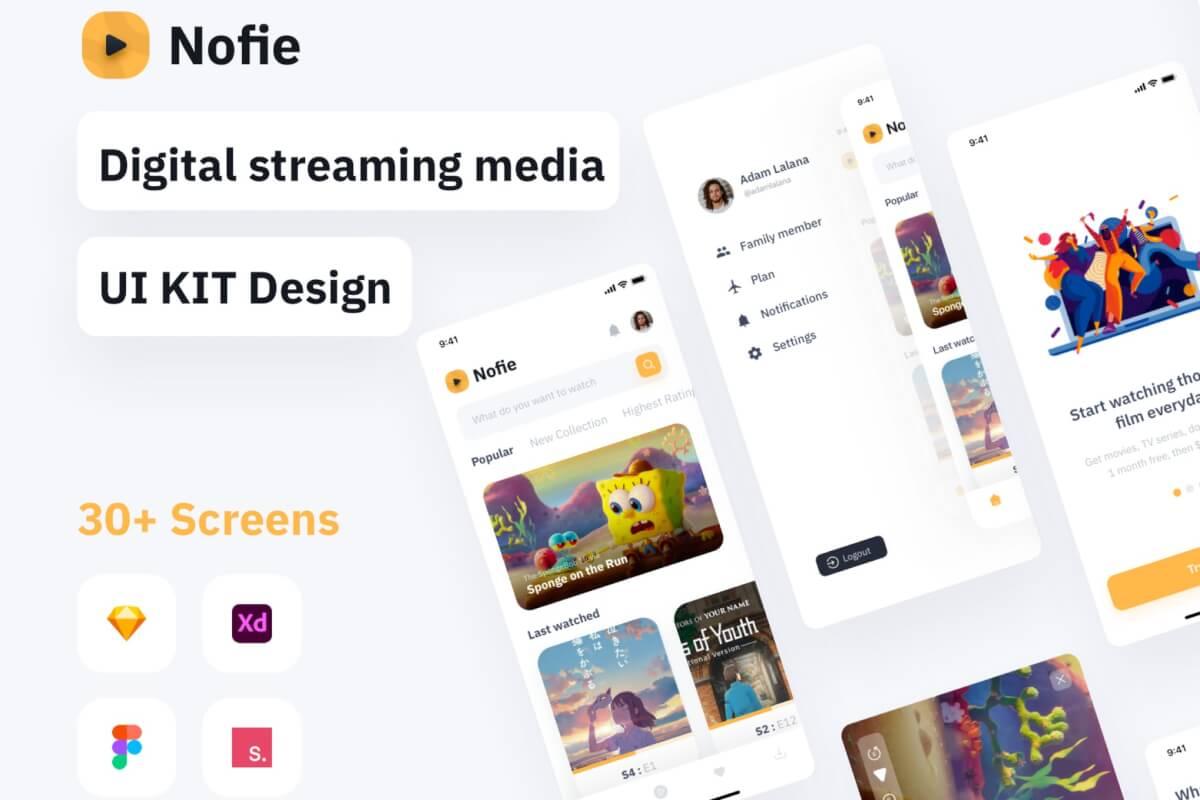 Nofie-电影流媒体应用UI KIT