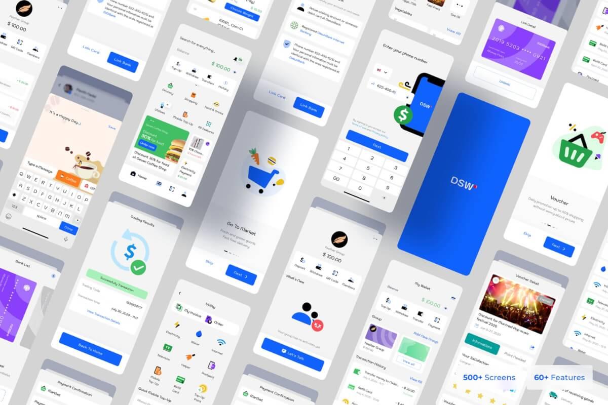 Dasun-数字钱包移动Ui套件个人钱包管理app模板