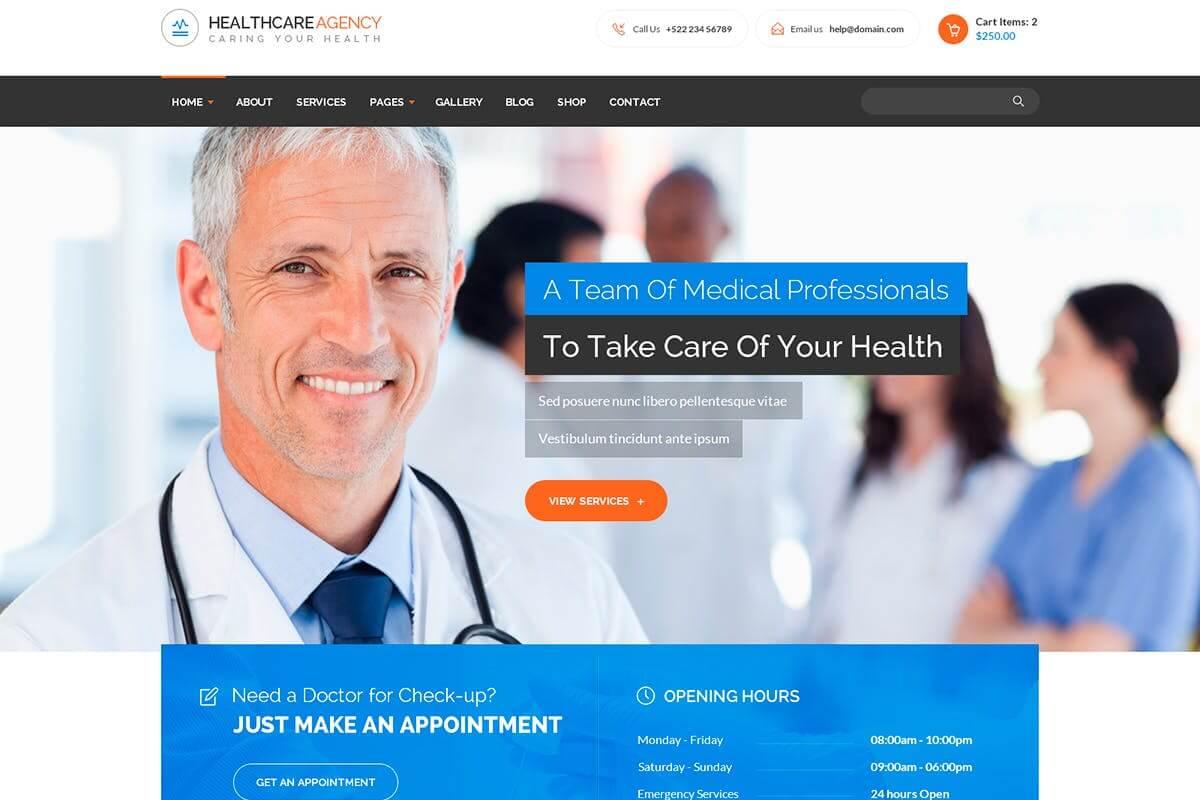 医疗保健机构健康和医疗网站HTML前端模板