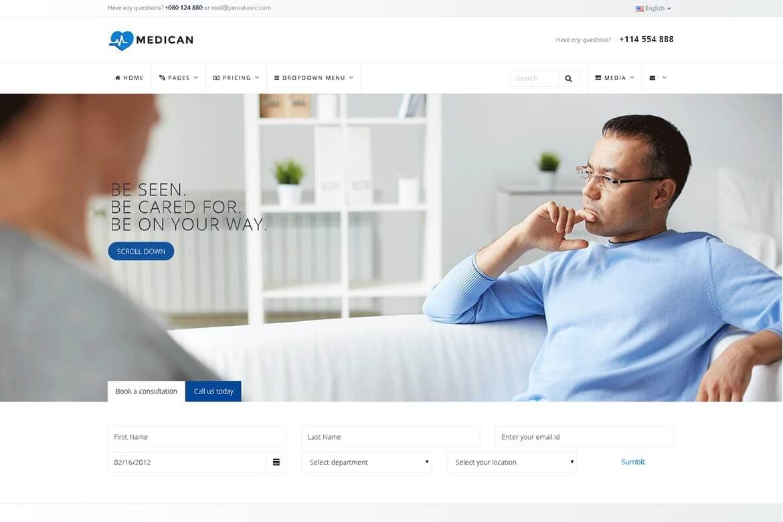 Medican-健康医疗医院挂号网站html前端模板