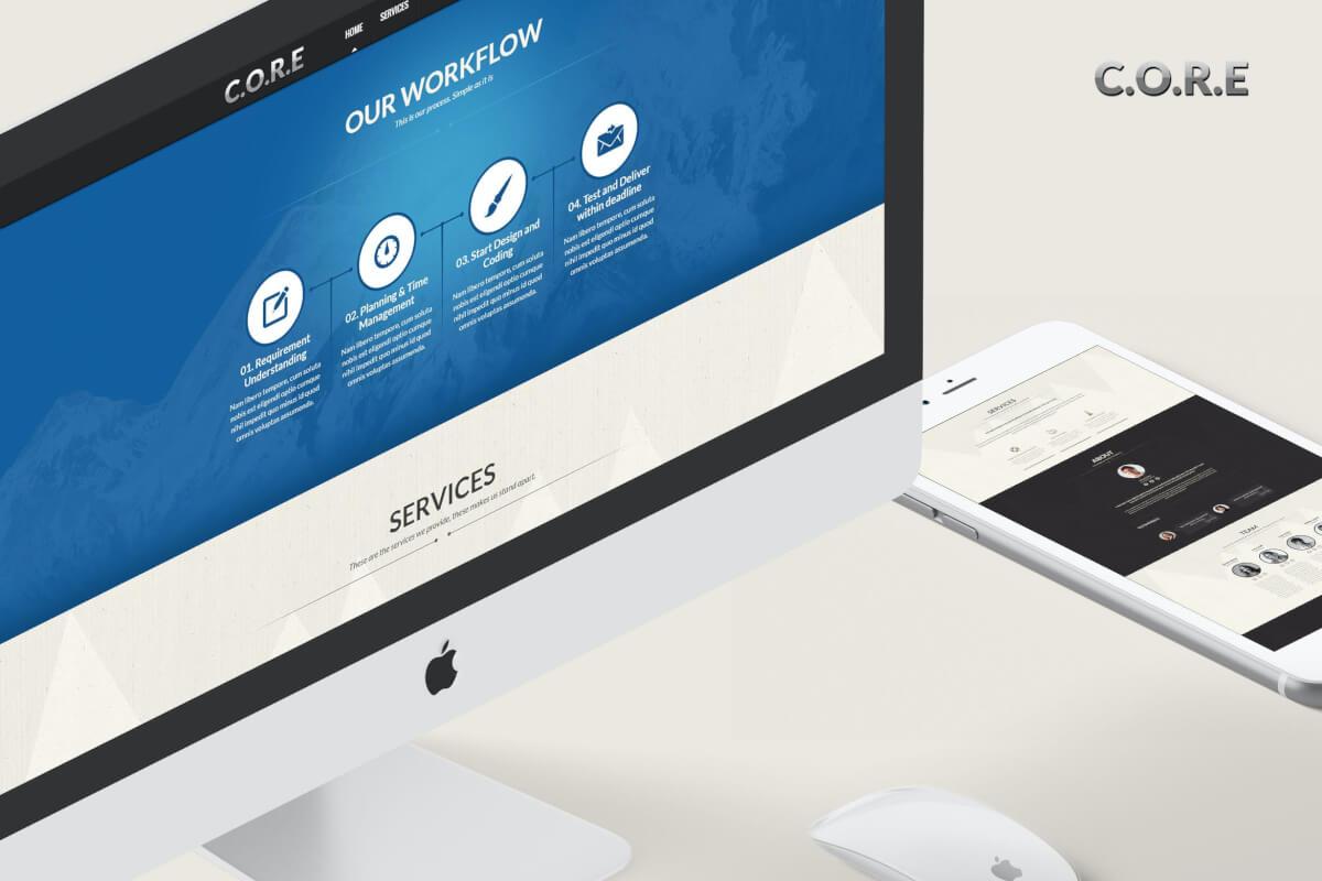 工作室团队网站自适应HTML5模板