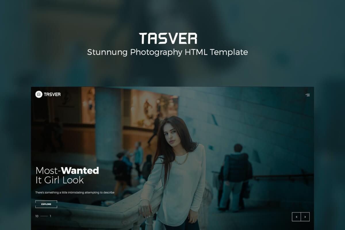 Tasver-摄影和杂志作品集网站html前端模板