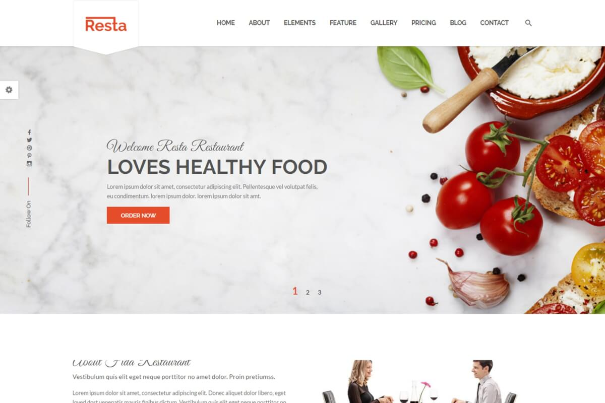 Resta-餐厅餐饮网站前端代码HTML模板