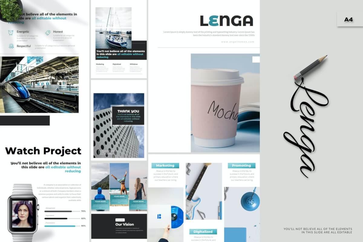 Lenga-A4 商务公司介绍企业介绍公司宣传Google幻灯片