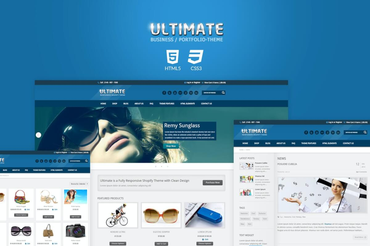 Ultimate-复古响应式企业网站HTML模板