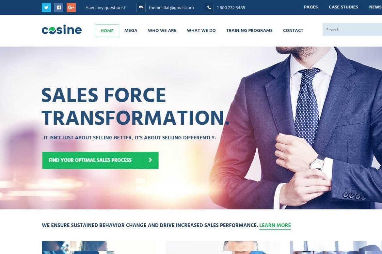 Cosine-培训教练和教育商业网站HTML模板