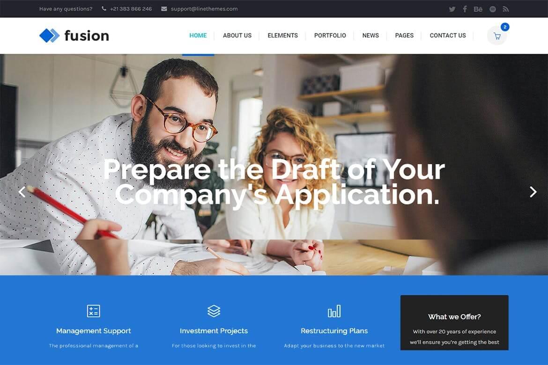 Fusion-现代商业公司企业网站HTML前端模板